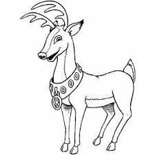 happy reindeer coloring page