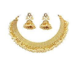 indian necklace set images Buy sanara beautiful gold plated pearl beads south indian necklace jpg