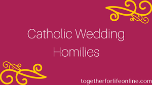 marriage homily catholic wedding homily together for online