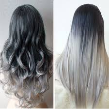 black grey hair 5 star seller black to grey ombre hair extensions silver