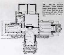 Frank Lloyd Wright Home And Studio Floor Plan Isabel Roberts House Wikipedia