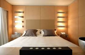 Master Bedroom Lighting Design Gray White Wooden Cupboard Near Study Desk Light Blue Bedroom