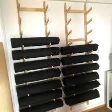 imagenes estudios yoga plywood yoga mat storage at the kali collective yoga studio made by