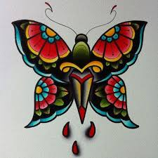 30 traditional butterfly tattoos