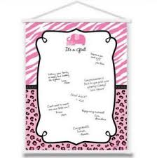 baby shower sign pink safari girl baby shower sign in sheet hanging scroll 270153