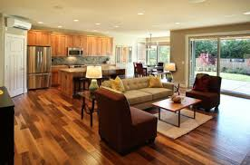 l shaped open floor plan how to style an open plan living space