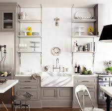 modern kitchen open shelving cabinets u0026 storages one kings lane openshelf windsor with grey