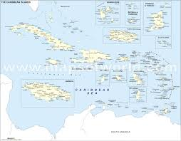 Map Caribbean by Political Map Of Caribbean Islands