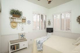 White Beadboard Ceiling by Cottage Guest Bedroom With Ceiling Fan U0026 Carpet In Scottsdale Az