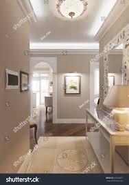 elegant classic luxurious hall beige walls stock illustration