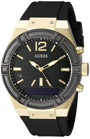 amazon mens watches black friday amazon com guess women u0027s connect smartwatch with amazon alexa and