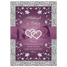 purple and silver wedding invitations perfectly plum wedding invitation purple silver floral faux