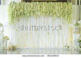wedding backdrop images wedding backdrop flower decoration stock photo 361318943