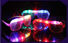 party sunglasses with lights 500pcs led light glasses flashing shutters shape led flash glasses