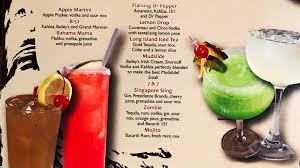 apple martini with cherry monterrey mexican restaurant