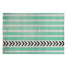 Mint Green Bathroom Accessories by Allyson Johnson Mint Stripes And Arrows Woven Rug Deny Designs