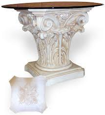 Greek Pedestal Classical Column Table Bases Talaria Enterprises Museum Store