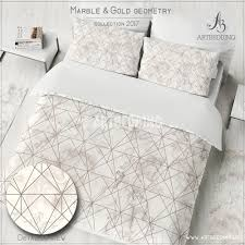 geometric pattern bedding marble and copper geometry duvet cover beige marble texture with