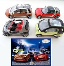 cars cake toppers kinder magic ferrero complete 4x smart forfour cars cake