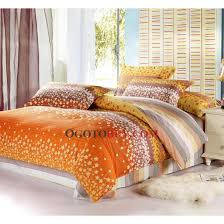 fall yellow floral 4 piece bed in a bag with strips buy orange