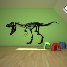 skeleton t rex dinosaurs wall decals home decor pinterest
