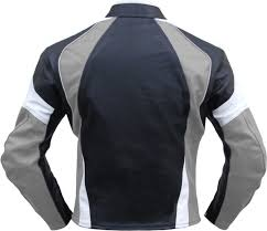 motorbike coats leather motorcycle motorbike cowhide combi jacket black grey white