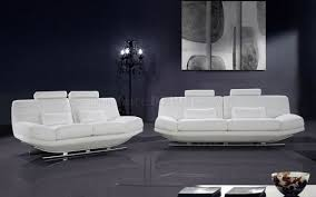 White Leather Living Room Set Modern Italian Leather 3pc Living Room Set Viper White