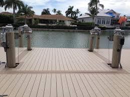 tandeck plastic decking installed on a boat lift shoreline lumber