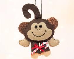 needle felted monkey ornament felt monkey figurine amigurumi