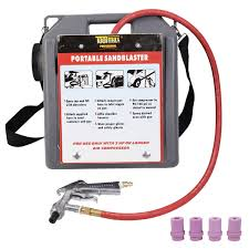 30 lbs portable handheld air sandblaster kit tools blasting gun