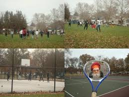 clevelanders played football basketball tennis on a cold