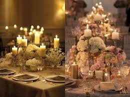 composizione di candele decorazioni matrimonio con candele fotogallery donnaclick