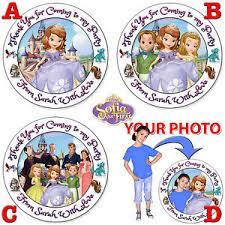 personalised princess sofia stickers birthday