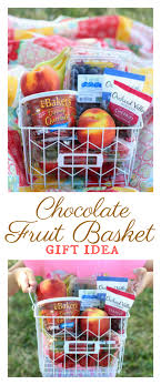 fruit basket gift fruit basket with dipping chocolate a gift idea for a