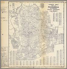 pasadena ca map bros map of pasadena altadena south pasadena and san