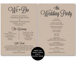wedding program templates ceremony program template wedding program printable we do