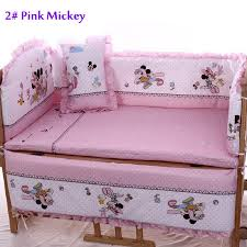 Mickey And Minnie Crib Bedding Minnie Mouse Baby Bedding Theme Vine Dine King Bed Popular