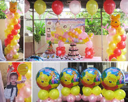 winnie the pooh baby shower decorations winnie the pooh baby shower balloons home party theme ideas