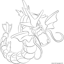 130 gyarados pokemon coloring pages printable