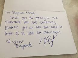 wedding gift thank you notes kris bryant sending thank you notes to cubs fans who sent him