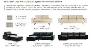 Depth Of A Sofa Stressless E200 Batick Special Price 3 Seat Sofa Pain Free Delivery