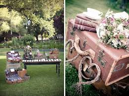 decoration mariage vintage how to style vintage luggage verdibou