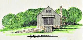 party barn sketch by dallas texas ranch architect steve chambers