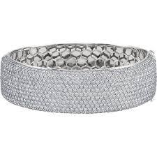 diamond bracelet cuff images 18kt white gold wide pave cuff bracelet wedding bands co jpg