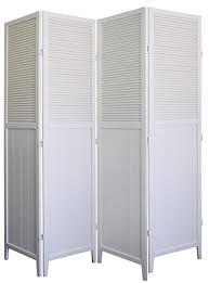 Shutter Room Divider 4 Panel Solid Wood Shutter Room Divider White Co Uk