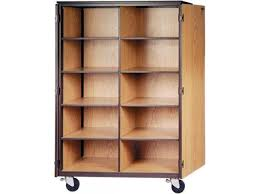 Wood Storage Cabinet With Locking Doors Cubby Storage Cabinet 10 Adj Shelves Locking Doors 72 H Irw