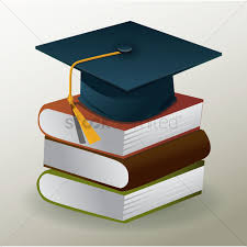 graduation books graduation hat and stack of books vector image 1514105
