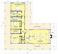Open Floor Plans Ranch Style L Shaped House Love The Separate Wirs For His And Hers House