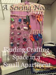 a sewing nook finding crafting space in a small apartment