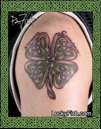 38 lucky celtic shamrock tattoos celtic clover clover